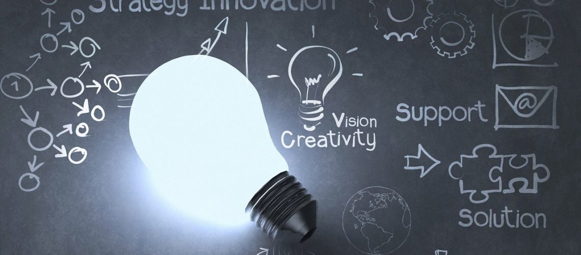 innovation bulb chalboard